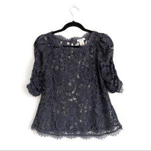 Sundance Lace Blouse Blue Size XS